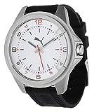 Puma Theme - Reloj de Cuarzo para Hombre, con Correa de plástico, Color Negro