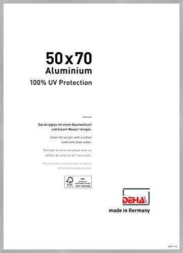 DEHA Aluminium Bilderrahmen Tribeca, 50x70 cm, Struktur Silber Matt