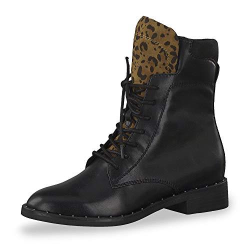 s.Oliver Damen Stiefel 25107-23, Frauen Schnürstiefel, elegant Women's Woman Freizeit leger Boots Chukka schnürung Damen Lady,Black,38 EU / 5 UK