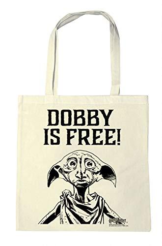 Logoshirt - Harry Potter - Dobby es libre - Sac de courses - Sac Cabas réutilisables - natural - Diseño original con licencia