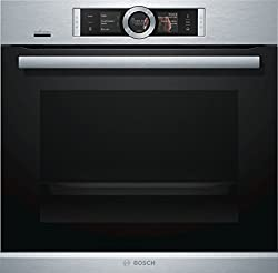 Bosch HSG636XS6 series 8 built-in steam oven / A + / 71 L / 1 L water tank / black / flap door / TFT display / 14 types of heating + 4 types of heating with steam / Bosch Assist / EcoClean Direct