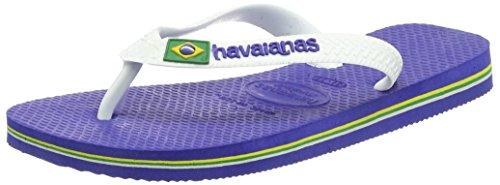 Havaianas Brasil Logo, Infradito Bambino, Blu (Marine Blue 2711), 31/32 EU