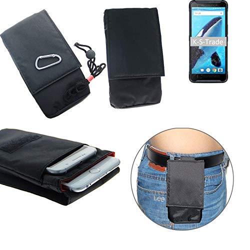 K-S-Trade® Gürtel Tasche Energizer Hardcase H570S Brusttasche Brustbeutel Schutz Hülle Smartphone Case Handy Schwarz Travel Bag Travel-Case Vertikal