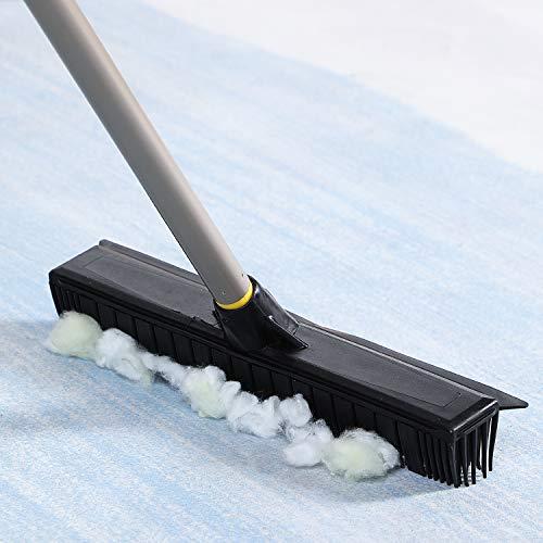 Cleanhomeゴムほうきデッキブラシカーペット掃除ブラシ浴室掃除用ブラシタイルブラシ掃除用品風呂掃除ベランダ/玄関/床/庭園にも適用
