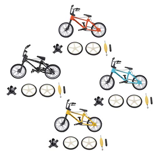 lahomia Mini Desk Gadget BMX Models X4 Finger Board Bike Toy Set