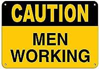 危険サインをする男性の注意職場の男性のサインアルミ金属サイン