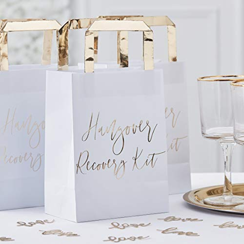Ginger Ray Gold Hangover Recovery Kit Bags - Gold Wedding Range by