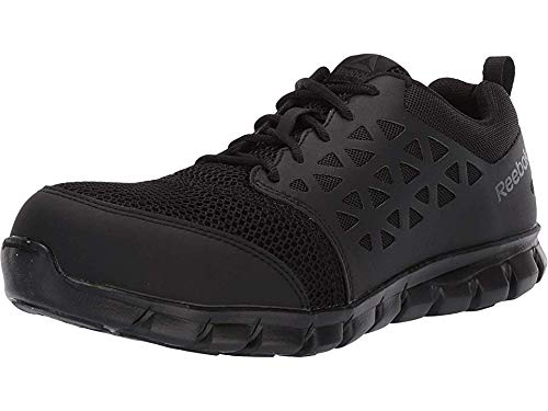 Reebok Work Mens Sublite Cushion Work Composite Toe Work Shoes Casual Work & Safety Shoes, Black, 9.5