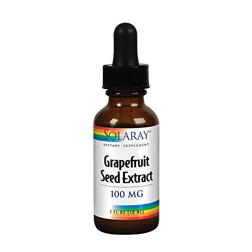 Solaray Grapefruit Seed Extract 100mg | Unflavored Liquid GSE for Healthy Immune System & Digestion Support | Vegan | 100 Servings | 1 Fl. Oz.
