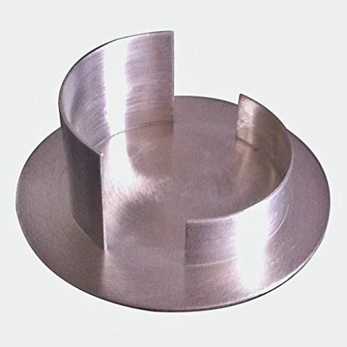 Kerzenhalter für Taufkerzen | Kerzenständer | Kerzenleuchter | für Taufkerzen | für Kommunionkerzen | Silber matt gebürstet | Passend für Kerzen mit einem Ø von 6 cm | Handarbeit.