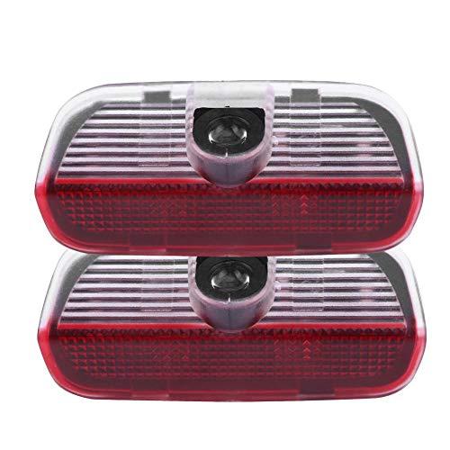 KIMISS Lumière de Projecteur de la Porte de Voiture LED,2pcs 12V 3W Voiture Shadow Projector Shadow Ghost Light Courtesy Welcome Logo Pour toutes les Voitures à siège (noir)