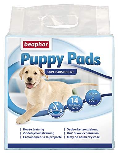 Beaphar BEA17131 Puppy Pads Empapadores Absorbentes, 60 x 60 cm, 14 Piezas ⭐
