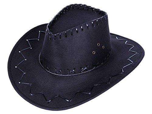 Alsino Chapeau de Cowboy Wild West Western Country Mexicain Taille Unique pour Enfant/Ados Noir (Kinder 06a) en Feutre de qualité supérieure lux très Classe
