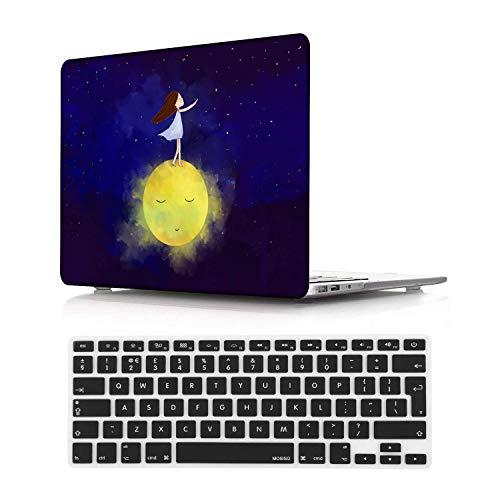 NEWCENT MacBook Pro 13' Funda,Plástico Ultra Delgado Ligero Cáscara Cubierta EU Teclado Cubierta para MacBook Pro 13 Pulgadas con Touch Bar Touch ID 2020 Versión(Modelo:A2289/A2251),Creativo 24