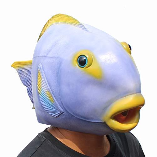 CreepyParty Fischmaske Halloween Kostüm Party Tierkopf Latex Maske Karneval Masken
