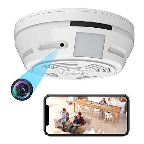 Spy Camera Smoke Detector - Hidden Camera WiFi 180 Days Standby 1080P HD Night Vision PIR Motion Detection Video Recorder Ceiling Nanny Cam