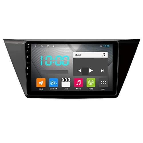 Nav Android 10.0 Car Stereo Double DIN para Volkswagen Touran 2016-2018 Navegación GPS Unidad Principal de 10 Pulgadas Reproductor Multimedia MP5 Receptor de Video y Radio con 4G WiFi DSP