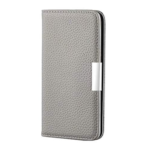 Samsung Galaxy A71 Hülle, HandyHülle Kompatible für Galaxy A71 Leder Flipcase SchutzHülle Tasche Cover Etui Brieftasche Flipcover mit Ständer und Magnetverschluss für Samsung Galaxy A71 grau