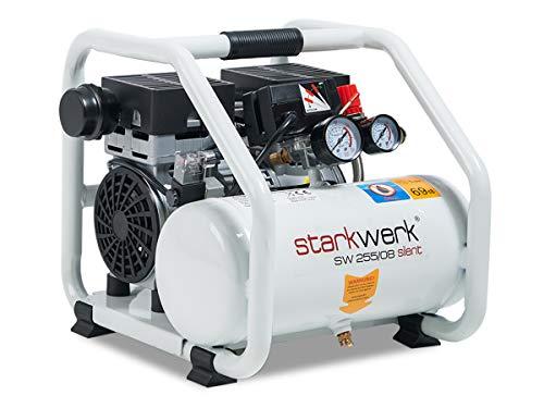 750 Watt 69db! 8 Bar ölfrei Flüsterkompressor Druckluftkompressor Silent Compressor leise Starkwerk SW 255/08