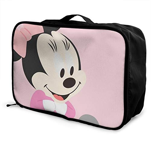 Meirdre - Borsone da viaggio per bambini, con Topolino, leggero, di grande capacità, portatile, borsa per weekender durante la notte