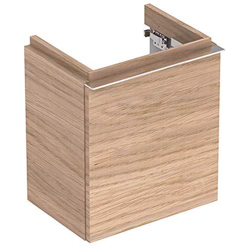Keramag Geberit iCon Unterschrank für Handwaschbecken mit 1 Tür li, 37x42x28cm, Eiche Nature, 841839000