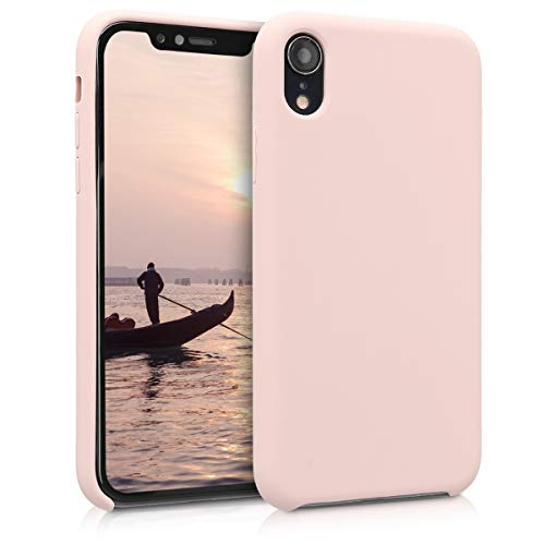 kwmobile Cover Compatibile con Apple iPhone XR - Custodia in Silicone TPU - Back Case Protezione Cellulare Rosa Antico
