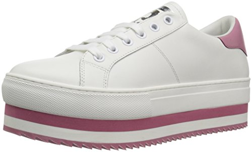 Marc Jacobs Women's Grand Platform Lace Up Sneaker, White/Pink, 40 M EU (10 US)