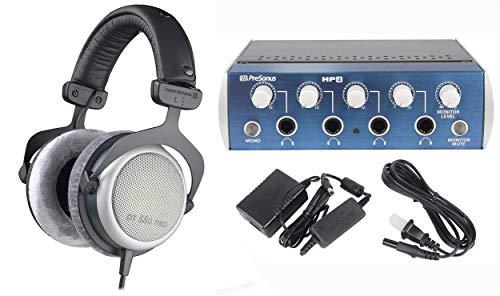 Beyerdynamic DT-880 Pro 250 Ohm + Presonus HP4 4 Channel Headphone Amplifier Amp