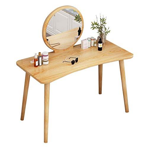 n.g. Wohnzimmerzubehör Schminktisch Schminktisch/Runder Spiegel Schminktisch und Schreibtisch Breite Tischplatte Schlafzimmerkommode Schreibtisch (Farbe : Schwarz)