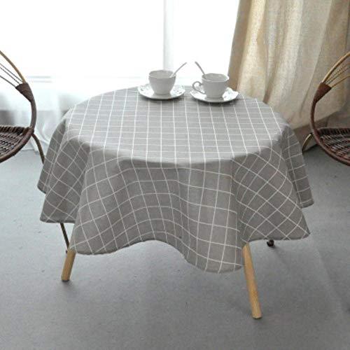 EDCV Home tafelkleed Katoen Rond Tafelkleed Kleur Geel Rijst Woord Grijs Pijl Katoen en linnen Bedrukt tafelkleed Custom, gouden tafelkleed