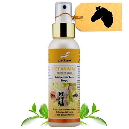 Peticare Anti-Kriebelmücken Stopp Spray für Pferde – Abwehr auch gegen Gnitzen, Effektiv dem Sommerekzem vorbeugen, Keine Ekzemer-Decke mehr, Pflege-Mittel ohne Chemie - petAnimal Protect 2001
