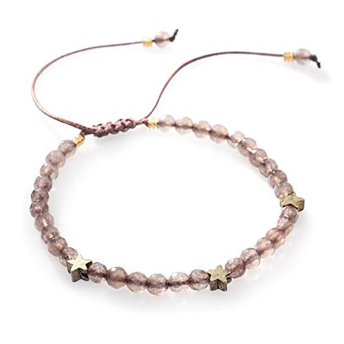 LIUL Pulseras de Piedra Natural para Mujer Pulsera de Cadena de Cuerda Joyas Hechas a Mano para Mujer