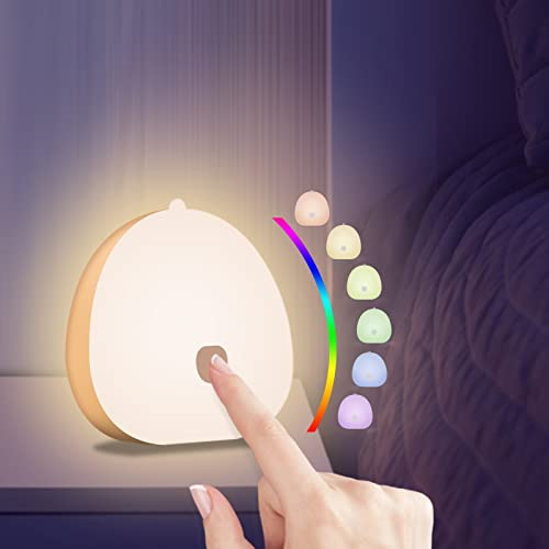 YIFACOOM Luz Nocturna Infantil, Luz Nocturna Bebé LED Recargable USB-C, Lámpara de Noche Control...