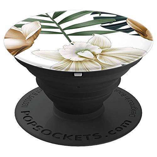 Leaves & Flowers Phone Popper PopSockets Grip and Stand for Phones and Tablets