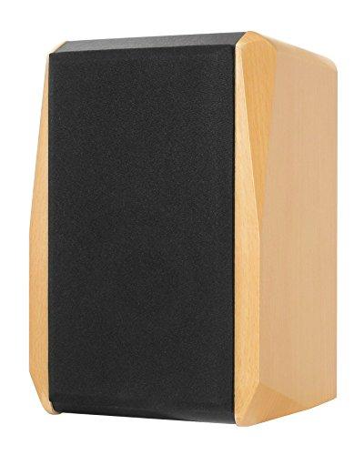 Dynavox TG-1000B Regal-Lautsprecher, kompakte 2 Wege-Box mit Abnehmbarer Abdeckung, Bassreflex-Öffnung, Paar, Buche