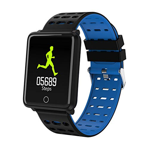 WoWer Herren Hochwertig Multifunktions-Smartwatch PulsmesserSchrittzählung, Kalorienverbrauchsanzeige Armband Armband für iOS Android Informationen Erinnerungsalarm und Fotos Sportuhren