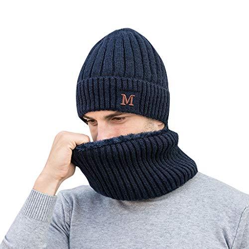 MOVERV-Gorra Unisex Hombres Mujeres Invierno Cálido Sombrero de Punto Al Aire Libre de Felpa Engrosamiento Gorro de Punto Sombrero de Esquí para el Invierno