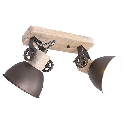 Plafondlamp 2er Spot Steinhauer 7969A antraciet wandlamp Vintage