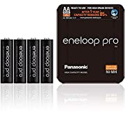 Panasonic eneloop Pro AA Rechargeable Ready-To-Use Ni-MH Batteries, Pack of 4.(BK-3HCDE/4LE)