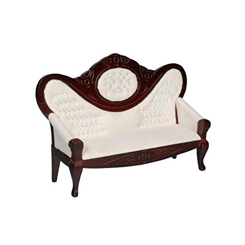 Inusitus Vintage Miniature Dollhouse Sofa - Dolls House Furniture Couch - 1/12 Scale (Dark)