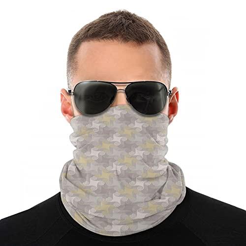 FULIYA Vielfalt Kopftuch, Retro geometrisches Muster mit Whirlpool abgerundete Formen, Outdoor Multifunktionstuch Kopftuch für Männer Frauen