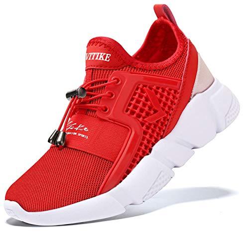 Zapatillas Casual Unisex Niños Zapatillas de Running para Niño Tenis Zapatos,1 Rojo,38 EU