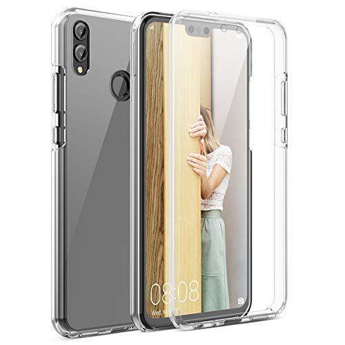 CE-Link Kompatibel mit Huawei Honor 8X Hülle 360 Grad [Crystal Clear] Transparent Hüllen mit Integriertem Bildschirmschutz Silikon & PC Handyhülle Schutzhülle für Huawei Honor 8X Hülle Durchsichtige