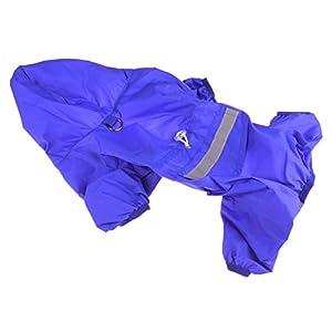 Xiaoyu Adjustable Pet Dog Waterproof Jumpsuit Raincoat Jacket with Safe Reflective Strips