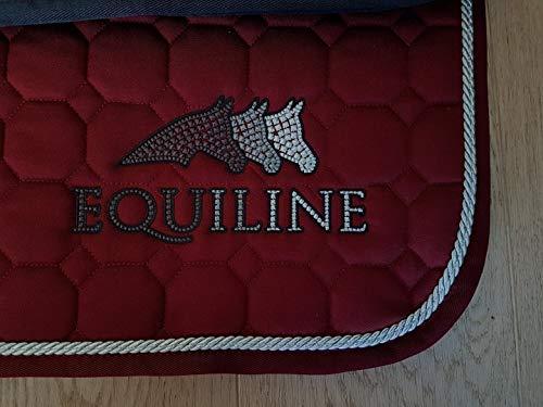 Equiline Schabracke Sprinter Größe DL, Farbe Bordeaux/Silber/grau