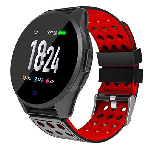 Farbdisplay Sport Smartwatch CK20 Smart Watch Sport Aktivität Sport Fitness Tracker Kalorien Armband Wear (rot)