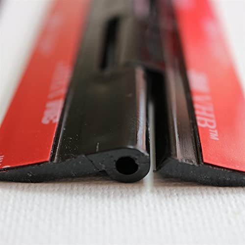 4x Negro Bisagras acrílicas: no se requiere pegamento. Autoadhesivas. Plástico Negro acrílico 150mm