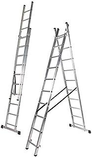 Escalera Aluminio Dos Tramos, 2 + 2 m, 2 x 7 Peldaños (2.0+