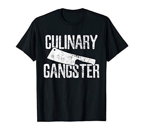 Chef Cook Cooking Culinary Gangster Vintage T-Shirt