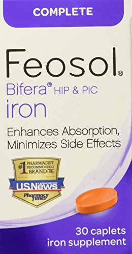 Feosol Complete with Bifera Iron 30 Caplets (3 Pack)